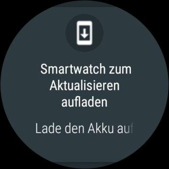 Update-Benachrichtigung auf der Huawei Watch 2, man beachte das niedrig auflösende Icon