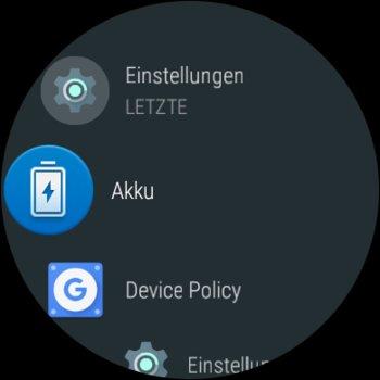 Der neue App-Drawer von Android Wear 2.0