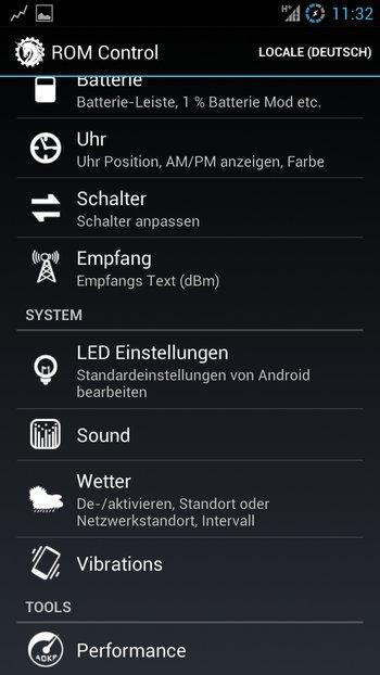 AOKP Jelly Bean Galaxy S3 Einstellungen 2