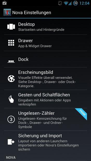 AOKP Jelly Bean Galaxy S3 Einstellungen 3