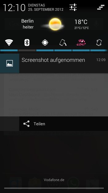 AOKP Jelly Bean Galaxy S3 Benachrichtigungsleiste 3