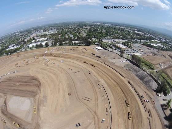 Apple Campus 2 Fotos vom 8. Mai 2014