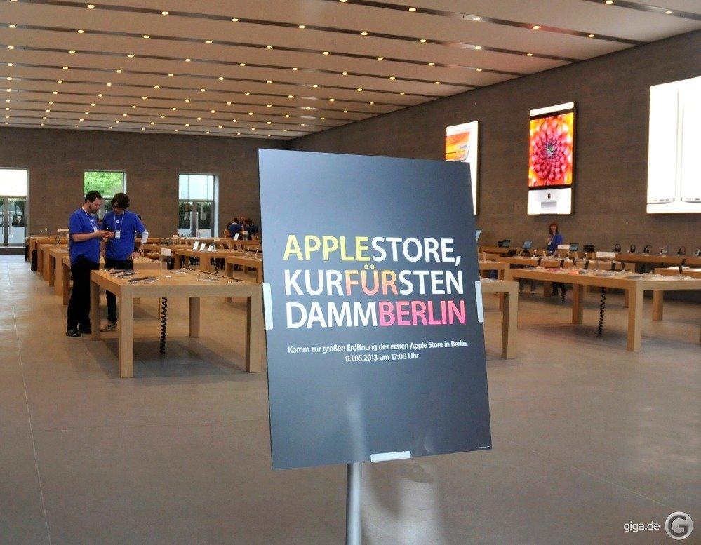 apple store kurf rstendamm in berlin die er ffnung video giga. Black Bedroom Furniture Sets. Home Design Ideas