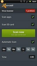 Avast Mobile Security fuer Android Virus Scanner Startseite