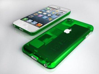 Konzept mit leuchtend grünem Gehäuse