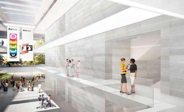 Hohe und offene Räume im Inneren des Hauptgebäudes
