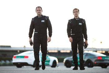 castrol-virtual-racers-ben-collins-l-prepares-to-go-head-to-head-with-matt-powers-r