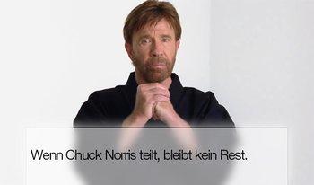 Bei Chuck Norris ist alles richtig