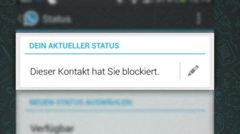 Dieser Kontakt hat Sie blockiert.