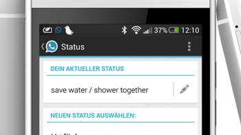 save water / shower together