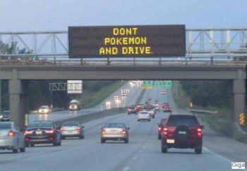 Don't Poké and drive!