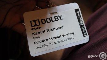 Dolby Laboratories Besucherkarte
