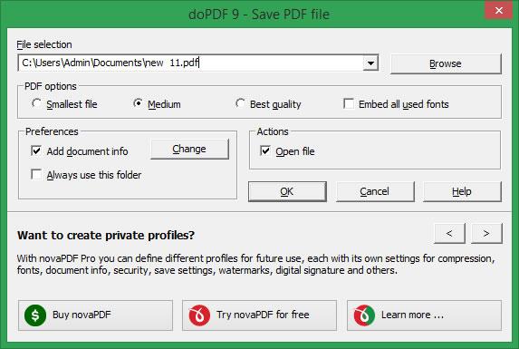 doPDF Free PDF Converter Download kostenlos