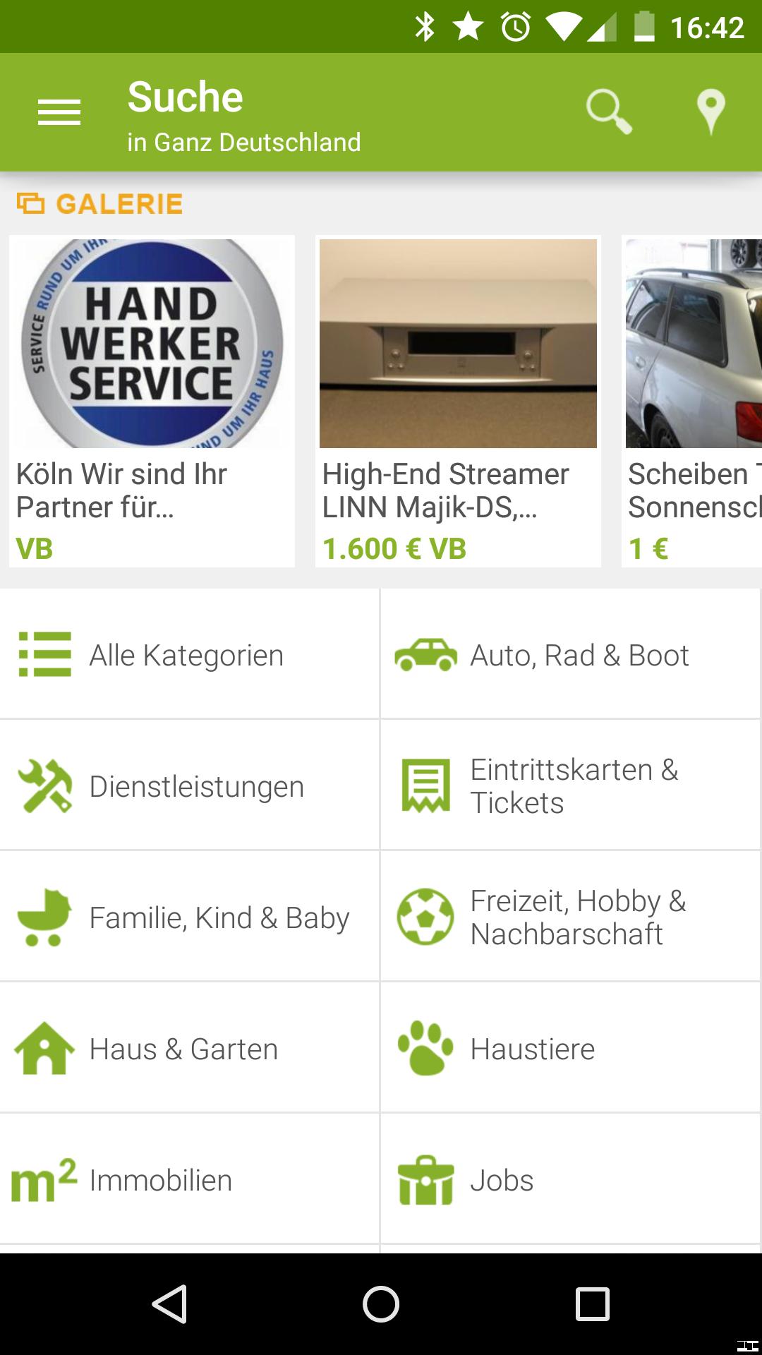 ebay kleinanzeigen android app zum digitaltr delmarkt im test giga. Black Bedroom Furniture Sets. Home Design Ideas
