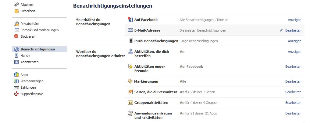 Facebook App Benachrichtigungen Löschen