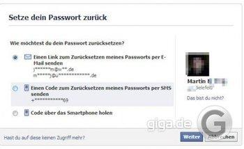 Facebook Passwort ändern