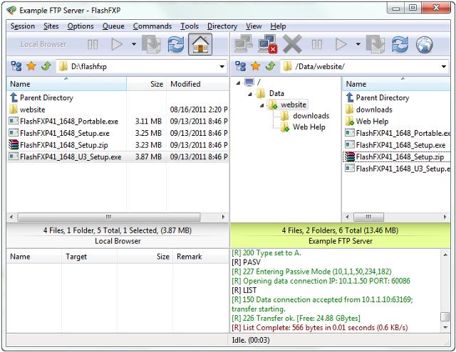 Скачать FlashFXP v.4.1.1 можно отсюда (3,3 МБ, Shareware В новой версии