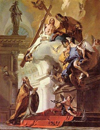 Vision des heiligen Clemens