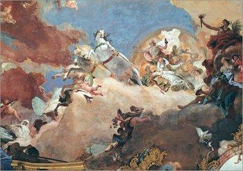 Apollon fliegt mit Beatrix I. in seinem Sonnenwagen