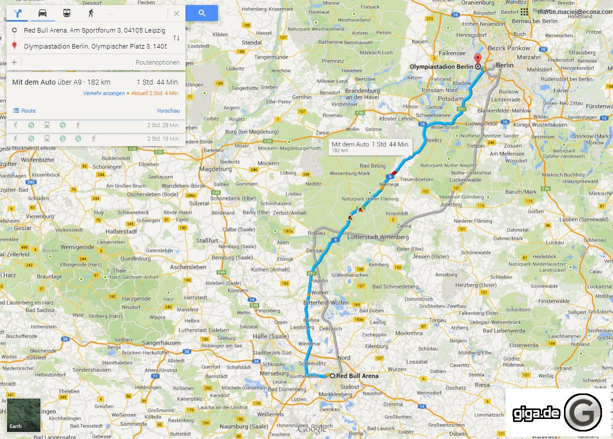 google maps routen berechnen im browser so geht s. Black Bedroom Furniture Sets. Home Design Ideas