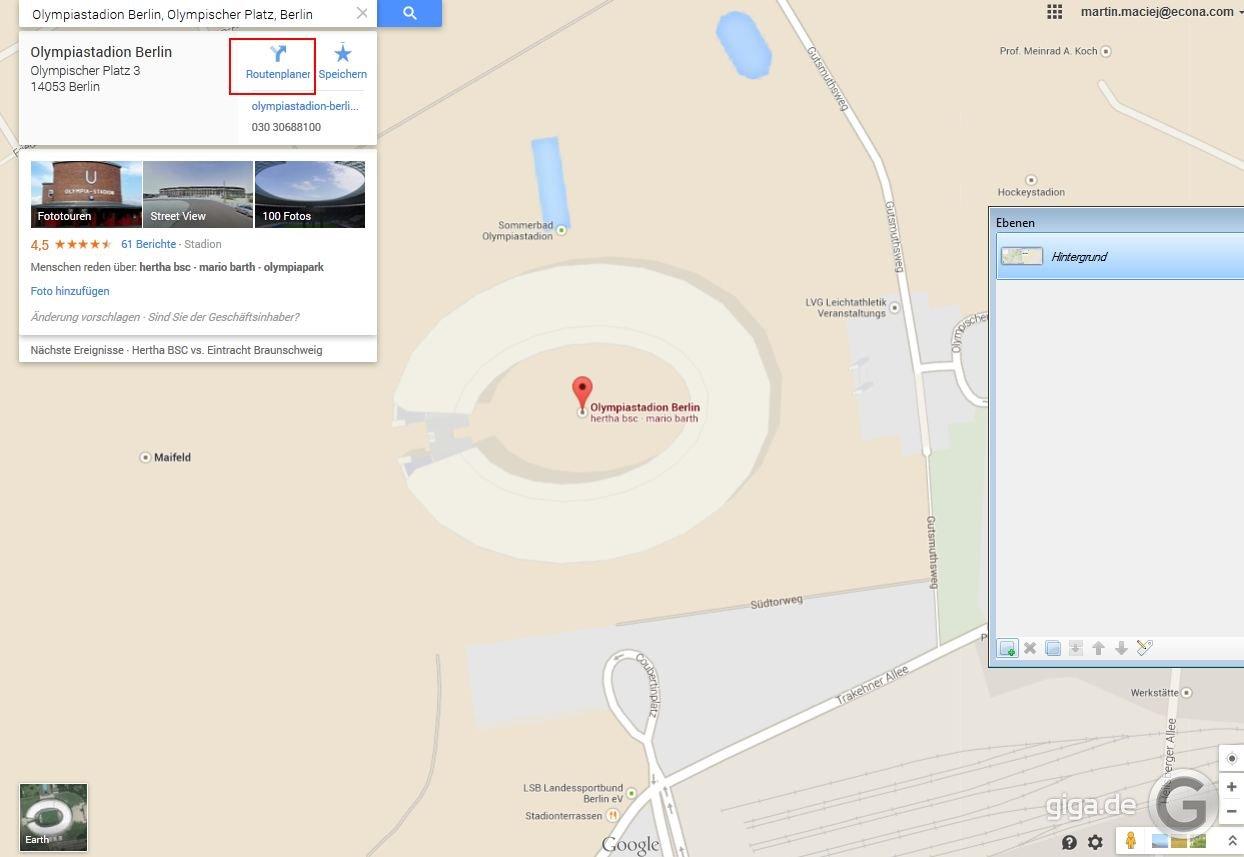 google maps routen berechnen im browser so geht s giga. Black Bedroom Furniture Sets. Home Design Ideas