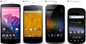 Nexus 5 vs. Nexus 4 vs. Galaxy Nexus vs. Nexus S