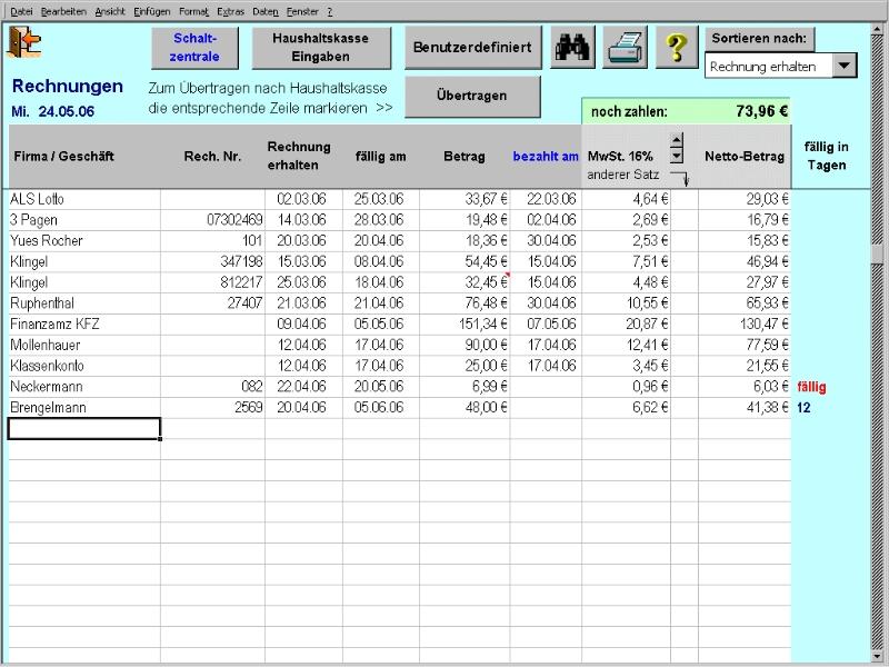 Haushaltskasse Für Excel Download Kostenlos Giga