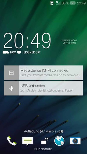 HTC One M8 mit Android 5.0 Lollipop