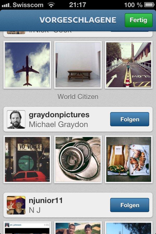 4. Instagramm registrieren