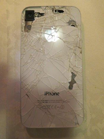 Sergeys iPhone sieht böse aus, läuft ebenfalls noch.