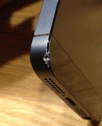 iPhone 5 versus Kopfsteinpflaster. Nichts gesprungen!