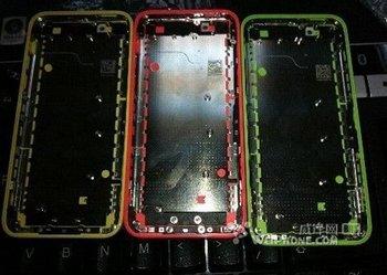 Angebliche Gehäusebauteile des iPhone Lite