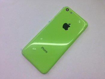Angebliches Gehäusebauteil des iPhone Lite in Grün