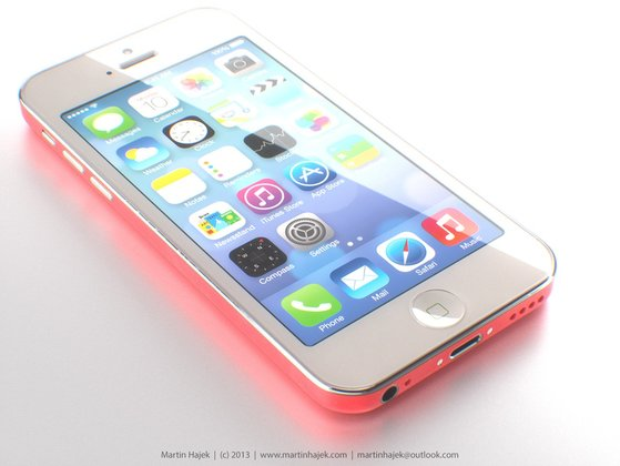 "iPhone ""Lite\"" in rot - Rendering: Martin Hajek"