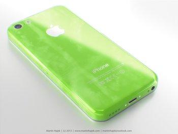 "iPhone \""Lite\"" in grün - Rendering: Martin Hajek"