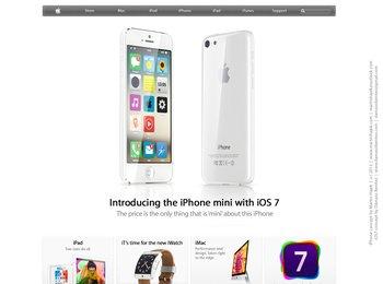 iPhone mini mit iOS 7 Konzept - von Martin Hajek