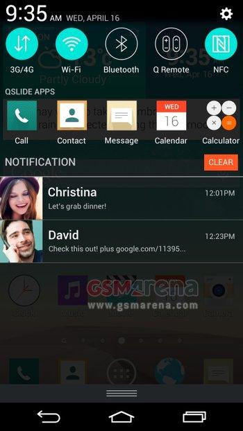 LG G3 Optimus UI