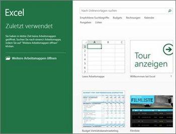 Microsoft Excel 2013 Vorlagen