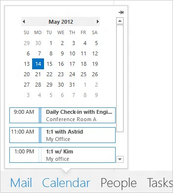 Kalender unter Outlook 2013