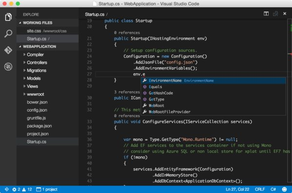 Microsoft Visual Studio Code OS X