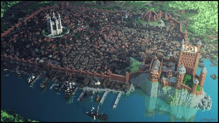 Echte Minecraft-Fans bauten Kings Landing aus Game of Thrones detailgetreu nach