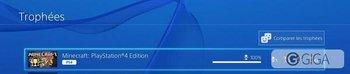 Mon 1er platine ! Easy ! #MineCraftPS4 #Minecraft #PS4 cc @Killsolis http://t.co/i08n16Vage