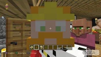 #MinecraftPS4 Selfie con el aldeano! xD #PS4share http://t.co/JSfa9kU8dk