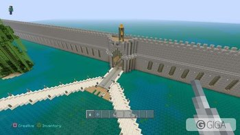 This wall spans the entire perimeter of the map #MR--MINECRAFT #MinecraftPS4  #PS4share http://t.co/vGq1J6snd8