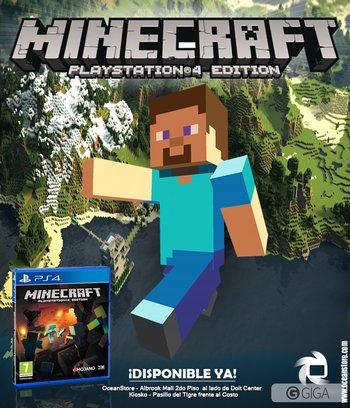 Ya disponible en nuestras tiendas #MinecraftPS4 ven pronto por el tuyo!@Freaxtvshow http://t.co/uVWxK2K01U