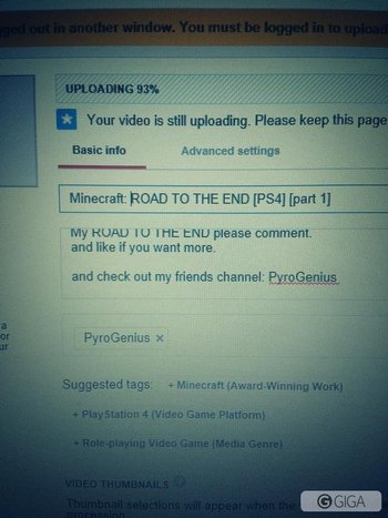 #firstvid #minecraftps4 in the process of uploading my first vid!! So excited!! Pls go sub EXPLIC1T GAMERr http://t.co/dFs6SAEGzO