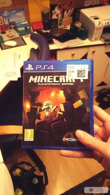 Wurde aber auch mal Zeit, dass dieses Spiel meine heiligen Hallen betritt :D #minecraft #MinecraftPS4 http://t.co/TFJnEZRCe2