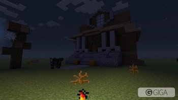 #MinecraftPS4 #Halloween My haunted house is coming along quite nicely. http://t.co/Zdx1qqcSmo