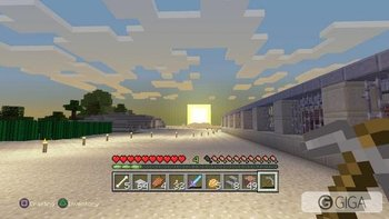 What a nice sun rise while working on #MinecraftPS4 storage facility http://t.co/taMCsBj51O