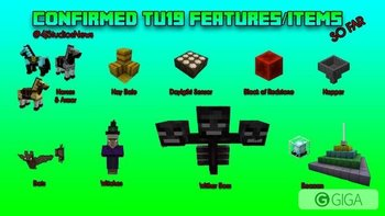Confirmed TU19 Features/Items so far. http://t.co/JwBoqcpdCz #MinecraftPS3 #MinecraftXbox1 #MinecraftPSVita #MinecraftPS4 #MinecraftXbox360